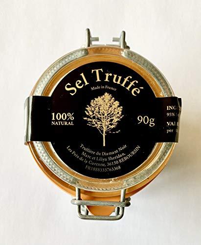 TRUFFIERE DU DIAMANT NOIR - 1 Pot de Fleur de Sel Truffée - Assaisonnement Artisanal - Truffe Noir et Sel de Guérande - Cuisine - Produit Frais - 100% Naturel - 90g