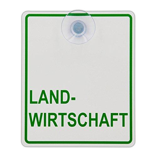 Saugnapfschild Schild Landwirtschaft Acrylschild 3mm mit Saugnapf 30mm, ca. 10x12 cm für Scheibeninnenbefestigung