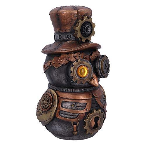 Nemesis Now Hootle Steampunk-Figur Eule mit Zylinder, 22,7 cm, Bronze