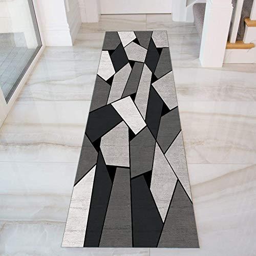 GJIF Geometria Tappeto Corridoio Passatoia, Design Moderno Morbido Ingresso Tappeti for Cucina Scala Sala, Larghezza 60cm/ 80cm/ 90cm/ 100cm/ 120cm(Size:60x350cm)