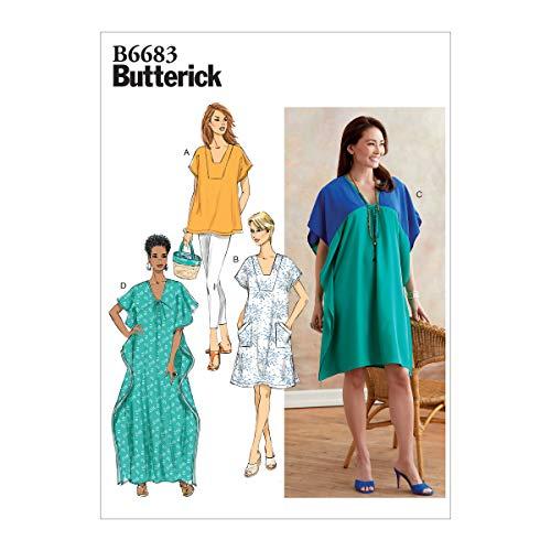 Butterick B6683ZZ Easy Damen Schnittmuster Kaftan und Tunika, Größen 44-54