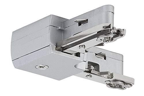 Paulmann 97648 URail Schienenleuchte System Light&Easy L-Verbinder starr chrom 230V Metall Stromschienensystem, Silber, 20 x 20 x 30 cm