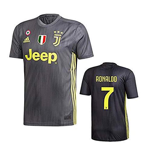 Juventus Maglia Ronaldo Nera Trasferta 2018-19 Adidas Adulto e Bambino (XXL)