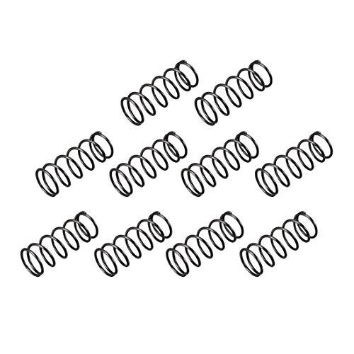 sourcingmap 10 Stück Druckfeder 14mm Außendurchmesser 1,2 mm Drahtdurchmesser 35 mm lange