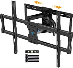 Full Motion TV Wall Mount for 37-100 Inch Flat/Curved TVs with Max VESA 800x600mm Sliding Articulating TV Mount for TV Centering Swivel Rotate Extend Tilting TV Bracket Fits 16