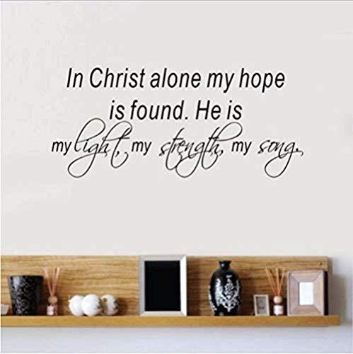 Bibelverse Wandtattoo In Christus Allein Meine Hoffnung Ist Gefunden Vinyl Aufkleber Home Schlafzimmer Aufkleber Innenarchitektur 58X25Cm
