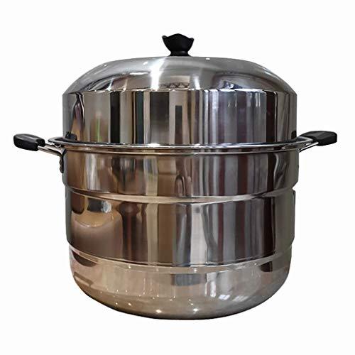 Edelstahl-Dampfgarer/Suppentopf 3-lagig, großvolumig, kommerziell mit Dampfgarer, 50 cm dick, King Size Hotel Restaurant, geeignet für Gasherd/Induktionsherd
