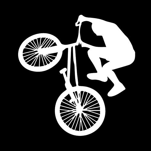 Cool Cycling Highly Difficult Bike Vinly Decal Beautiful Decor Car Sticker Silver 15.5Cm*16Cm