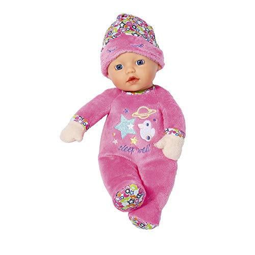 Zapf Creation 829684 BABY born Sleepy for Babies, Weiche Stoffpuppe 30 cm, pink