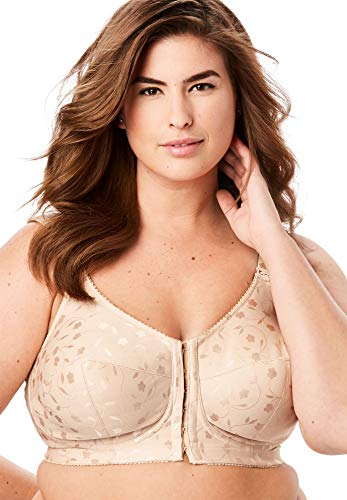 Elila Jacquard Front Hook Support Softcup #1515 Nude 50L