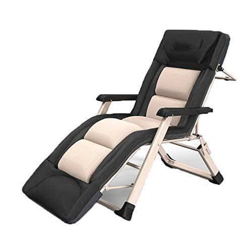 FGDSA Liegestühle Zero Gravity Chair, Patio Liegestühle Reclining Sun Lounger Gartengarten Patio Gravity Chair 3D-Wattepad Sun Lounger Chair