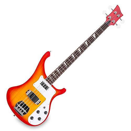 Rocktile Redneck E-Bass (Longscale, Humbucker, Single Coil, eingeleimter Hals) Red Sunburst