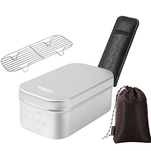 MiliCamp MR-250 Pro メスティン 4in1セット キャンプ 飯ごう バリ取り済 アウトドア 自宅炊飯 防災対策 絞り加工 目盛付