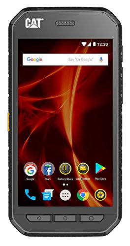 CAT PHONES S41 Rugged Dual-SIM Smartphone (5 Zoll (12,7 cm) FHD-Display, 32 GB interner Speicher (erweiterbar auf 128GB), Android Nougat, 5000 mAh Akku, Staub-und wasserdicht) schiefergrau