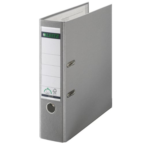 Leitz 10105085 Qualitäts-Ordner (Plastik-Cover, A4, 8 cm Rückenbreite) grau