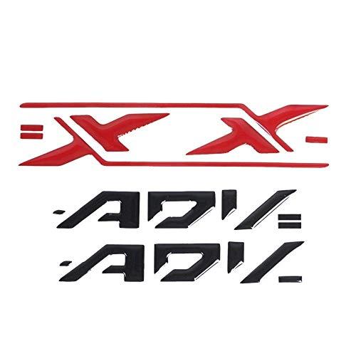 LIWIN Motorradzubehör 3D-Motorrad-Frontstoßstange Schutz Venting Patch-Carbon-Faser-Aufkleber for HONDA XADV X Adv 750 X-adv XADV 750 (Color : Side panel sticker)