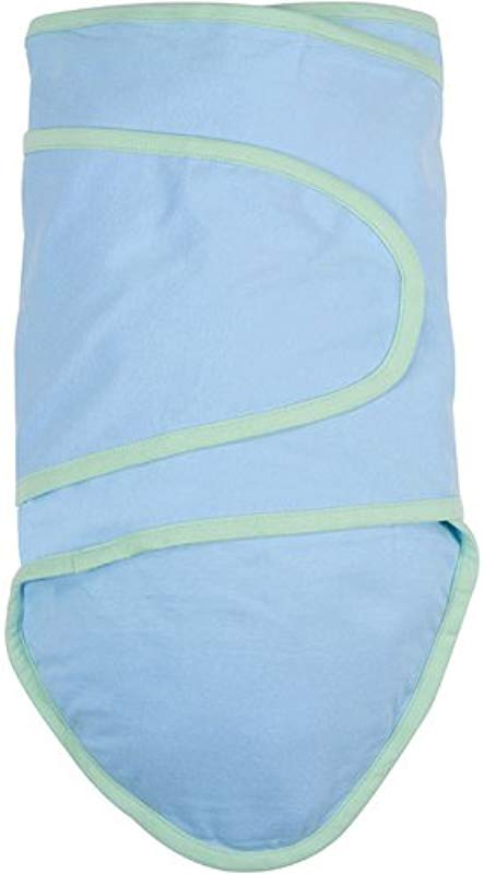 Miracle Blanket In Blue With Green Trim