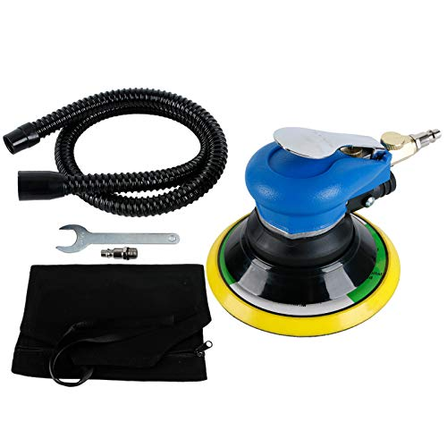 Professional Air Orbital Sander,6' Vacuum Pneumatic Sander for Auto Body Work With 6 Inch Pads