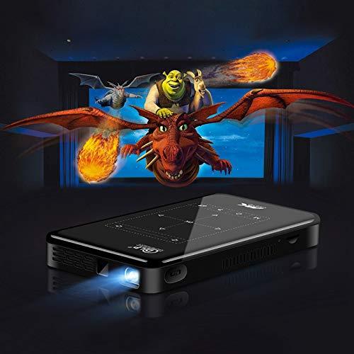 Sjibol P9II portátil 4K DLP Ultra Mini Proyector inteligente de alta definición con control remoto por infrarrojos, Amlogic S905X 4Core A53 hasta 1,5 GHz Android 6.0, 2 GB 16 GB, soporte 2.4G / 5G WiF