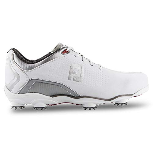 FootJoy Men's D.N.A. Helix Limited Edition-Previous Season Style Golf Shoes, White/Silver, 11.5 M US