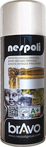 Aérosol peinture professionnelle effet chromé argenté 400 ml, NESPOLI