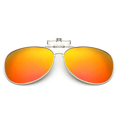 LLZTYJ Gafas De Sol/Viento/Luz/Coche/Cumpleaños/Regalo/Decoración/Modelos Masculinos Y Femeninos con Clip De Marco Se Puede Convertir/Polarizador/Gafas De Sol/Clip/Gafas De Sol/ESP