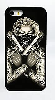 Marilyn Monroe Thugged Out Gangster Tattoos & Guns Phone Case Cover - Select Model (Galaxy S5)