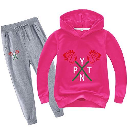 O&K Nouveau Garçons Filles Enfants Hot Imprimer Payton Sweat Sweat Tee Shirt Pantalons Simple Set Vêtements 100cm-170cm,Style 7,150cm