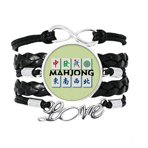 OFFbb-USA Pulseira Mahjong Face Rich Faisão Acessório Amor Pulseira de Couro Trançado Corda Presente