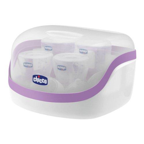 Chicco 0006584640020 - Sterilizzatore per microonde Sterilnatural Maxi, fino a 5 biberon