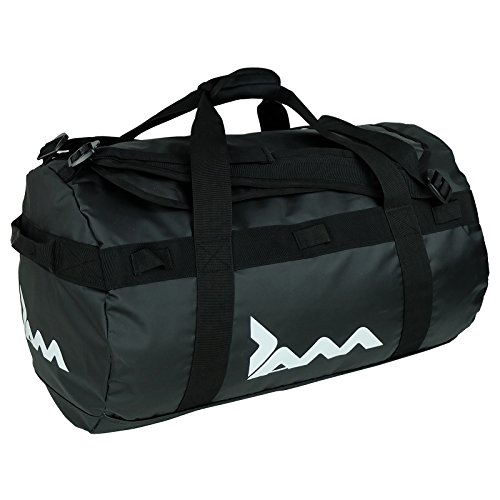 JAM Men's Black 85 Litre Cargo Duffle Bag Waterproof Holdall Sports Gym Travel Luggage, Neutral, one Size