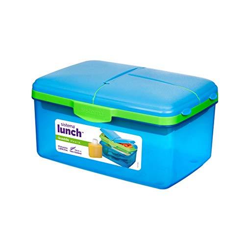 System–Brotdose Kinder, Kunststoff, Flasche, groß, Farbe Blau