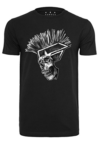 Famous Stars and Straps Hombre Punks Not Dead tee–Camiseta, Hombre, Punks Not Dead tee, Negro, Large