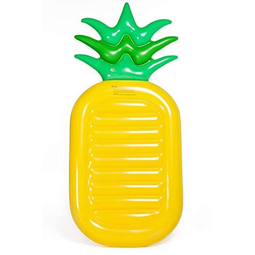 LEZED Luftmatratze Wasser Matratze Pool Schwimmbett Aufblasbares Schwimmbett Pineapple Ananas Form Wasserhängematte Hängematte Spielzeug Wasserspielzeug Sommerspielzeug Kinder Erwachsenen 190cm