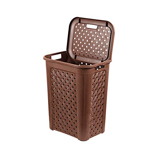 Cello Classic Plastic Laundry Bag/Basket, 30 Litres, Brown