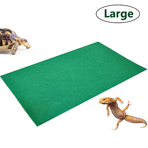 "Tfwadmx Extra Large Reptile Carpet Mat Substrate Liner Bedding Reptile Supplies for Terrarium Lizards Snakes Bearded Dragon Gecko Chamelon Turtles Iguana (70.87""X23.6"")"