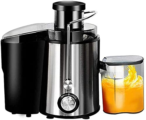 """XUERUIGANG Juicer Centrifugal Juicer Machine Wide 3"""" Feed Chute Juice Extractor Easy to Clean, Fruit Juicer with Pulse Function and Multi Speed control, Anti-drip, Stainless Steel BPA-Free (Silver)"""