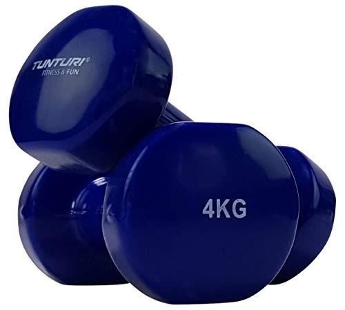 Tunturi Kurzhantel Vinylbeschichtung Blau 4 kg, 14TUSFU112