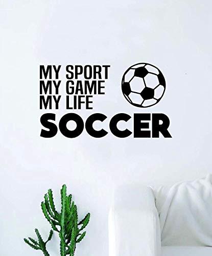 voetbal mijn sport spel leven citaat sticker muur Vinyl kunst huisdecoratie inspirerende sport tiener jongen meisje motiverende futbol fIFA