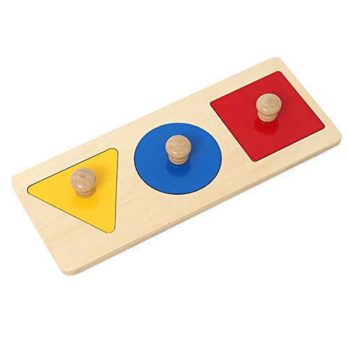 Adena Montessori Colorful Montessori Multiple Shape Puzzles - Learning Material Sensorial Toy for Babies