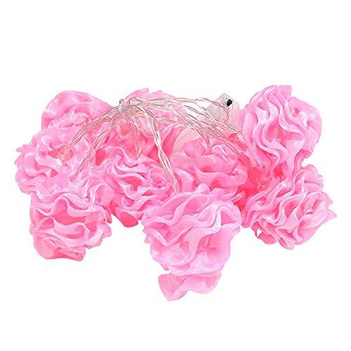 Luces de Cuerda de Flor Rosa, 3M LED Luces de Cuerda de Flor, Cuerda de Luz Rosa con Interruptor de Palanca, para Decoración de Cumpleaños de Boda Interior al Aire Libre Luces de Hadas (20 Leds)