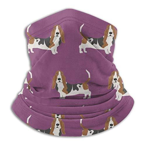 asdew987 Basset Hound - Polaina de cuello de raza de perro de pie, diadema, máscara solar, bufanda mágica, bandana, pasamontañas, diadema para deportes