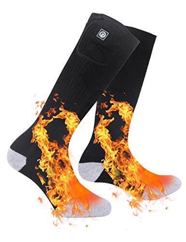 SAVIOR HEAT Heated Socks Men Women Battery Sock for Cold Feet Thermal Electric Socks for Camping Winter Footwarmers