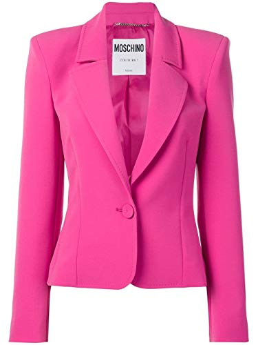 Luxury Fashion | Moschino Dames J051404240209 Fuchsia Synthetische Vezels Blazers | Seizoen Outlet