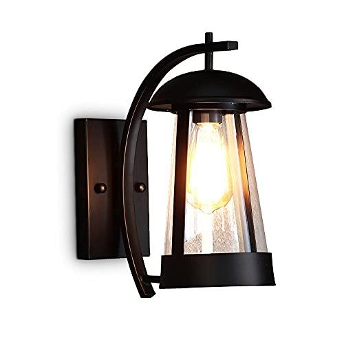 Iluminación exterior Lámpara de pared Minimalista Creatividad de la pared Iluminación de pared Negro Alta temperatura Pintura para hornear luces de pared E27 Base para puerta Balcón Escalera Patio