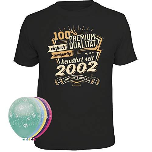 Unbekannt T-Shirt zum 18. Geburtstag + 5 Luftballons (Premium Qualität bewährt seit, M)