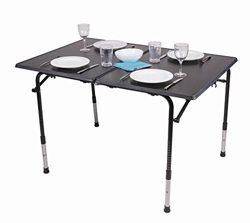 Kampa Hi-Lo PRO Large Premium Folding Camping Table