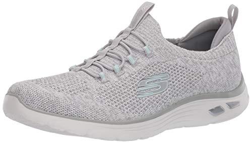 Skechers Empire D'lux - Zapatillas inteligentes para mujer, Blanco (Blanco/Gris), 38 EU