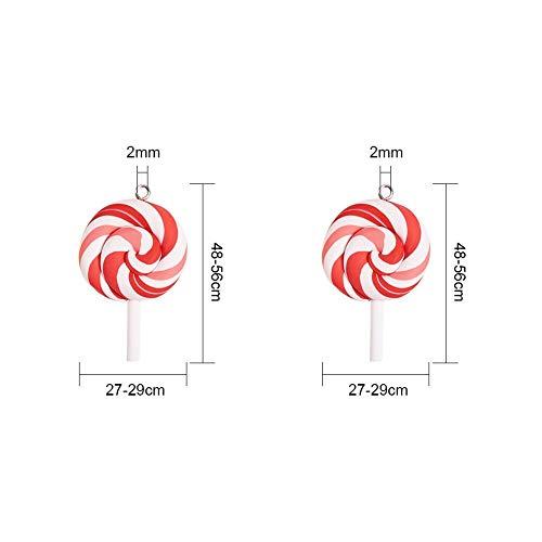 NBEADS 50 Unids Colorido Lollipops Arcilla Colgante Encantos Hechos A Mano de Arcilla de Polímero Lollipop Colgantes para DIY Craft Supply, Color Mezclado, Agujero: 2 Mm