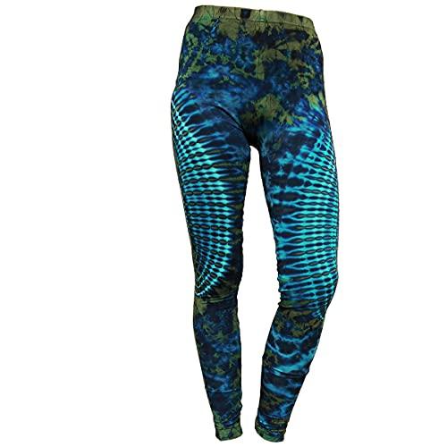 PANASIAM Leggings batik2, TD12 Blue-Green, M